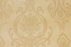 Teflon-treated textile-table-cloth in light sand-colored with motif