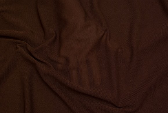 Thin, transparent, stretchable, mesh-polyester in brown