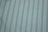 Through-woven cotton in mint and white striped