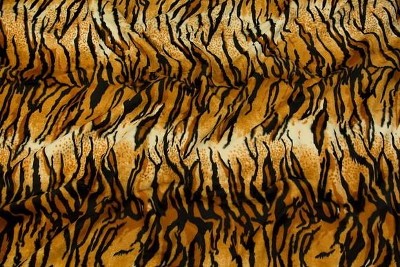 Tiger faux fur