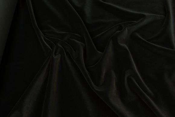 Velvet in classic woven quality in black