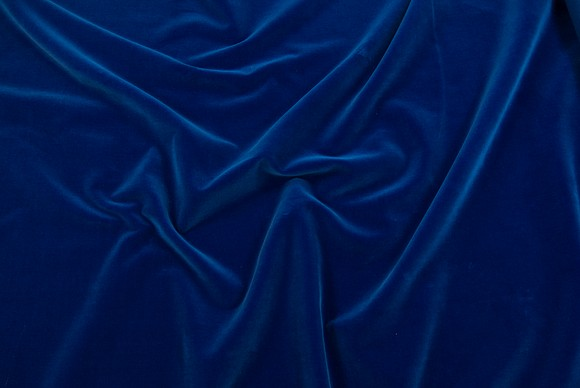 Velvet in classic woven quality in cobolt blue