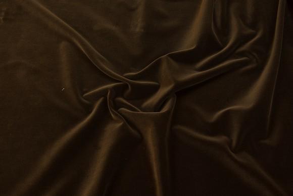 Velvet in classic woven quality in dark brown