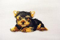 Yorkshire terrier 6 x 4 cm