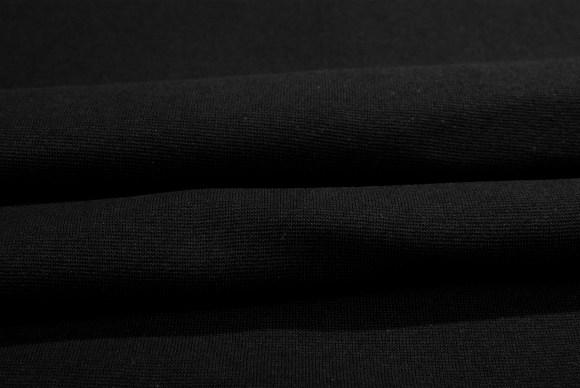 Black rib-fabric in classic good quality