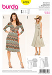 Burda 6759. Wrapped dress, v-neck.