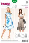 Skirt, bell-shaped, hem band