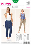 Jogging-Pants, wonderfully comfortable and at the same time hip and trendy. Whether casual or suited for the city depends on the styling. Note the pleat at one side of variant A, which adds more volume for the ease of movement.