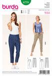 Pants, elastic casing