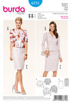 Suit, peplum jacket, pencil skirt