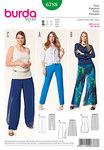 Pants, elasticated waistbandOver-pants, Wrap effect