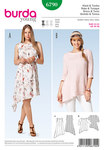 Burda 6790. Dress, tunic, slanting hem.
