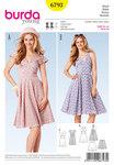 Dress, bell-shaped skirt