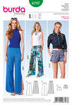 Pull-on pants, rounded slits, Boxershorts