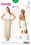 Skirt, slightly flared with concealed walking slit