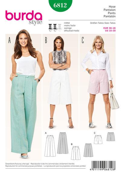 Pants, culottes, varying lengths
