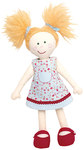 40 cm. This cute little doll with a dress and shoes simply invites to snuggle and cuddle with it! A pleasant surprise which guarantees joy and also fun while sewing it.
