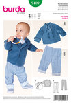 Cool coordinates for little boys. Jacket with double-breasted buttoning and standing collar, simply with raw edges because this kind of material hardly frays. Quickly sewn and feeling smooth and fluffy. The saucy pull-on pants with section seams complete the look.