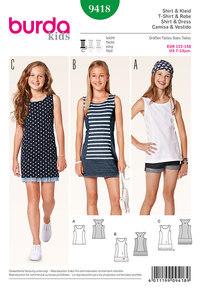 Burda pattern: Shirt, jersey dress, tank top