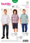 Hip and trendy boys shirts, vividly checkered. Pockets, cuffs or turn-ups from matching garnish fabric are favored details. For special occasions, rather choose the plain white shirt which relies on classic details.