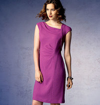 Vogue pattern: Dress with asymetrical neckline