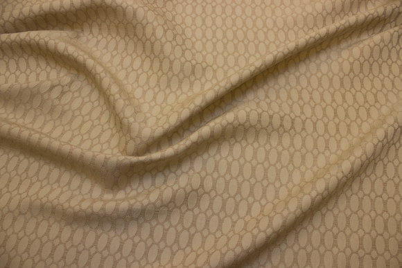 Jacquard-woven polyester in beige