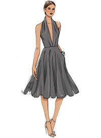Dress, Very Easy Vogue. Vogue 9343.