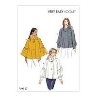 Top, Very Easy Vogue. Vogue 9347.