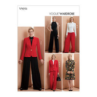 Jacket, Top, Dress, Pants and Jumpsuit, Vogue Wardrobe. Vogue 9351.