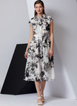 Vogue 9371. Dress and Belt, Vogue Easy Options.