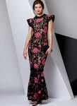 Vogue 9372. Petite Special Occasion Dress, Very Easy Vogue.