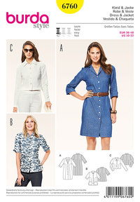 Dress, jacket, most popular classics. Burda 6760.