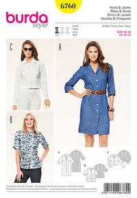 Dress, jacket, most popular classics. Burda 6760.