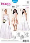 Burda 6776. Corset dress, wedding dress, lace bodice, underskirt from tulle.