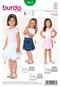 Skirt, yoke, ruffles. Burda 9413.