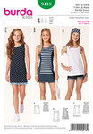 Burda 9418. Shirt, jersey dress, tank top.