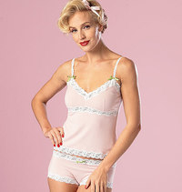 Camisole, Slip and Panties. Butterick 6031.