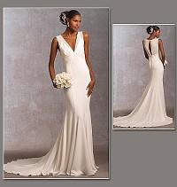 Wedding dress, evening dress. Vogue 1032.