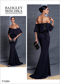 Dress, Badgley Mischka. Vogue 1604.