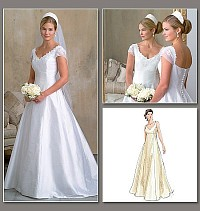 Petite Wedding Dress, Bridesmaid dress. Vogue 2788.
