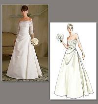Wedding dress, evening dress. Vogue 2842.