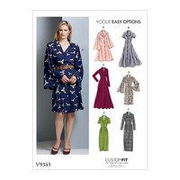 Dress, Custom Fit. Vogue 9345.