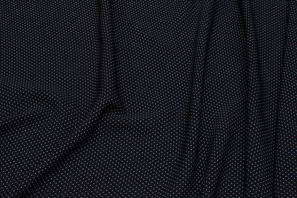 Black micro-polyester with white mini-dots