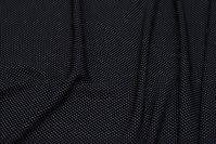 Black micro-polyester with white mini-dots