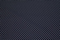 Black patchwork-cotton with 2 mm white dot