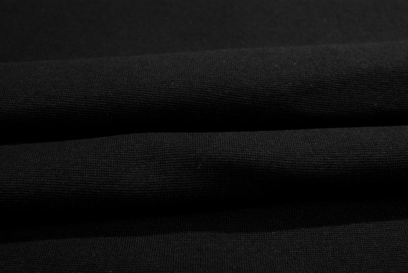 Black rib-fabric in classic good quality