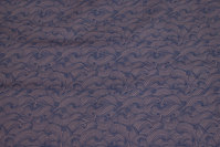 Discrete patterned cotton in brown and navy