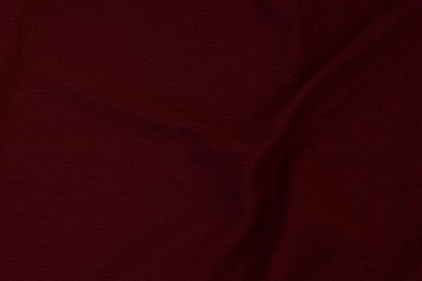 Double-woven cotton-crepe (gauze) in bordeaux