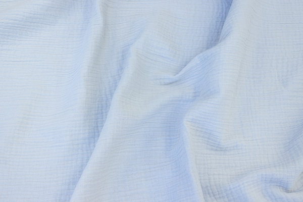 Double-woven cotton-crepe (gauze) in delicate light grey