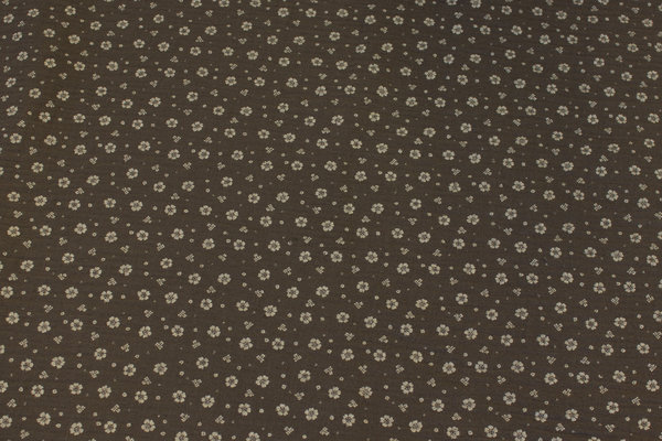Double-woven cotton-crepe (gauze) in mouse-grey with small light flower